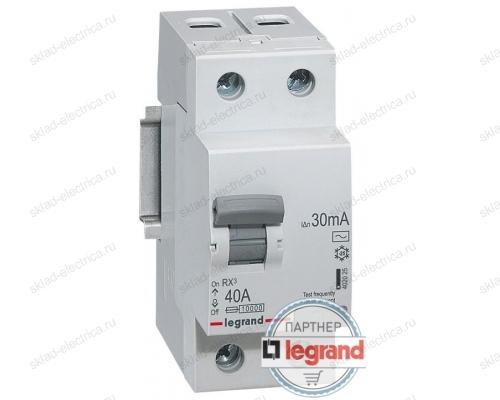 Автоматический выключатель дифференциального тока АВДТ 6А 30мА Legrand 419403