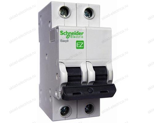 Автоматический выключатель двухполюсный 6А С Schneider Electric