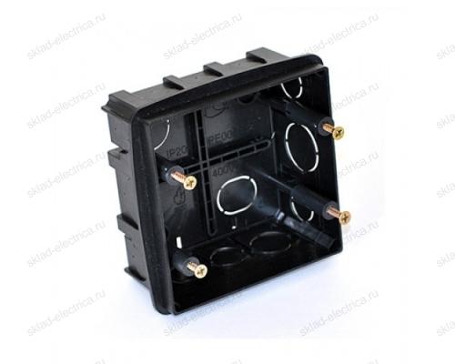 PE Коробка монтажная под ANAM 2-ая для сплошных стен, с крепежом, 100Х100Х50мм IP20