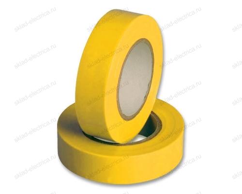 Изолента ПВХ 15мм желтая