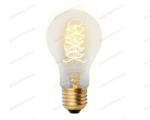 IL-V-A60-40-GOLDEN-E27 CW01 Лампа накаливания Vintage. Форма A. Форма нити CW. Картон. ТМ Uniel
