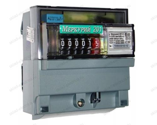 Счетчик электроэнергии Меркурий 201.5 5(60)А однофазный однотарифный на DIN-рейку