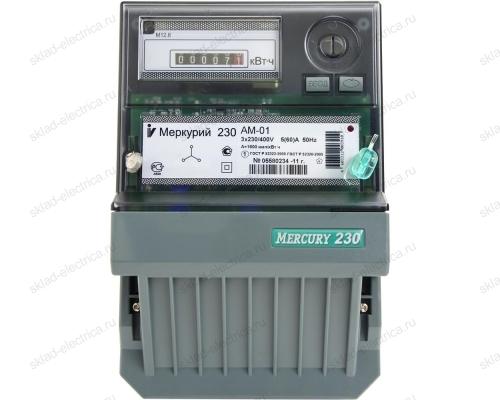 Счетчик электроэнергии Меркурий 230 АМ-01 5(60)А трехфазный (380В) однотарифный прямого включения